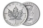25x Mint Sealed 1oz Canadian Maple Leaf .999 Silver Coins Unknown Year