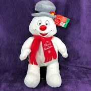 Build A Bear 18 Christmas Frosty Snowman Plush Hat Lights Up Tested Works