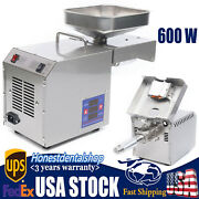 New Automatic Small Oil Press Machine Stainless Steel Cold Hot Press 110v Usa