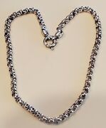 Sterling Silver Heavy 58.3 Grams Rolo Link Unisex Chain Necklace. 18 Length.