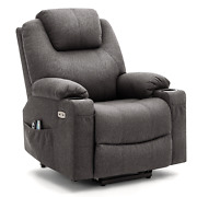 Electric Power Lift Chair Recliner Sofa For Elderly With Massage And Lumbar Heat