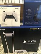 Ps5 Digital Console Bundle Gift Card Headset Remote Ps5 Subscription