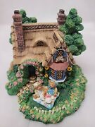 Cherished Teddies Village Collection Picnic For Two Figurines 2 Piece