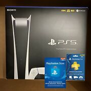 New Sony Playstation 5 Digital Edition Console Ps5 Bundle Fast Shipping Today
