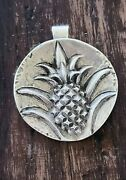 Rare James Avery Large Pineapple Pendant 18.4 Grams Sterling Silver Neat