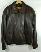 Lamb Leather Insulated Vintage Bomber Jacket Menand039s Size Large Couture By J. Park