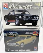 Amt Ford 1967 Mustang Gt 1969 Mustang Mach 1 Resto Rods Sealed 1/25th New