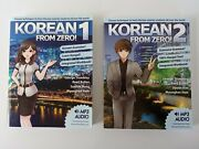 Korean From Zero 1 And 2 Proven Techniques To Learn Korean Very Good Condition