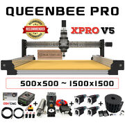 Queenbee Pro Cnc Router Machine Full Kit 4axis Hgr Linear Rail Cnc Engraver Mill