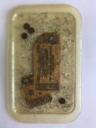 Antique Tray Resin With Inlaid Indian Head Pennies And Confederate Bills Rare