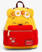 Loungefly Disney Winnie The Pooh Floral Crown Flocked Mini Backpack Nwt Excl