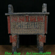 Old Warring States Dynasty Bronze Ware Painting Beast Inscription Incense Burner