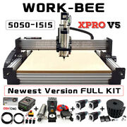 Work-bee Cnc Router Machine Full Kit 4 Axis Screw Driven Wood Cnc Engraving Mill