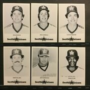 1981 Seattle Mariners Baseball Team Issued Postcards 14 Different Nm Sku229d