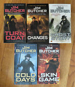 Jim Butcher X 5 Turn Coat + Changes + Ghost Story + Cold Days + Skin Game New
