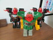 3 X Vintage Monster Robots Battery Operated Space Toy. Metamorphic Robots