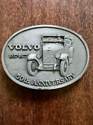 Vintage Volvo Car 50th Anniversary Belt Buckle - Brand New - Never Used