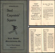 Eagle Square Mfg. Co. Shaftsbury Vt. - Steel Carpenters Squares - 30 Pages