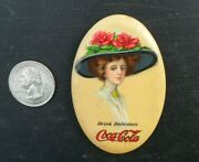 1911 Coca Cola Pocket Mirror Whitehead And Hoag Duplicate Mirrors 5 Cents Postage