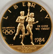 1984 S Proof Us Olympic Ten Dollar 10 Gold Commemorative Coin Mint Packaging