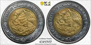 Er231 Mexico Mint Error -stuck With Two Obverse Dies -- Peso Pcgs Ms66