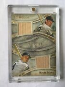 Ted Williams Roger Maris Dual Bat /10 2014 Topps Five Star Relic Yankees Red Sox