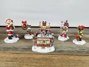Danbury Mint Garfield Christmas Marching Band Set Of 6 Paws Very Nice Condition