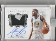 2017-18 Panini Flawless Kevin Durant Patch Auto Autograph Card /25 Limited To 25