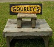 Gourleys Seed Corn Sign, Vintage Metal Advertising Sign, Farm Country Feed.