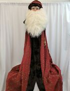As-is Collectorand039s Choice - Majestic Santa Deluxe 9 Foot Christmas Tree Topper