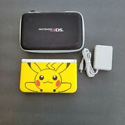 Nintendo 3ds Xl Pokémon Pikachu Edition Yellow With Case And Charger