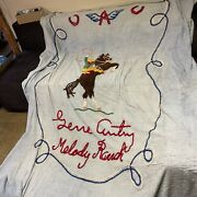 Gene Autry Memorabilia Bed Spread Sheet Melody Flying A Ranch Vintage 1 Of 1