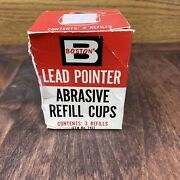 Vintage 1950's Boston Lead Pointer Abrasive Refill Cups 2-pack 1451