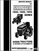 Snapper Tractor 160016501855 Series Service Manual