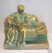 MAGNIFICENT RARE  ART DECO ZSOLNAY STATUE OF A PHILOSOPHER SIGNED