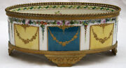 Magnificent 19c Sevres Hand Painted Enameled Center Bowl