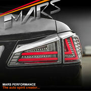Black 3d Red Stripe Full Led Tail Lights For Lexus Isf Is250 Is350 Gse20r 05-13