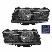 Headlights Headlamps Left And Right Pair Set New For 95-98 Bmw E38 7 Series