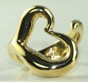 Vintage 18k Gold Elsa Peretti And Co Open Heart Ring Size 5.5 Never Worn