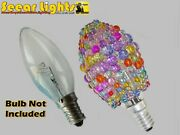Chandelier Glass Beaded Light Candle Bulb Cover Crystals Drops Shade Alternative