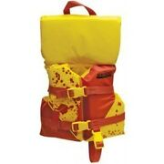 Yellow And Orange Colored Deluxe Child Sized Type Ii Pfd Life Vest For Boats