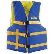 Blue And Yellow Colored General Adult Xl Sized Type Iii Pfd Life Vest For Boats