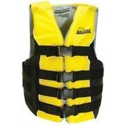 Black And Yellow Colored Adult 2xl/3xl Sized Type Iii Pfd Ski Vest For Boats