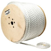 3/4 Inch X 600 Ft Three Strand Twisted Nylon Rope Spool For Boats