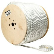 3/8 Inch X 600 Ft Three Strand Twisted Nylon Rope Spool For Boats