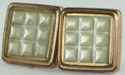 Vintage 1880's Gold Filled Square Mother Of Pearl Mop Cuff Buttons Cufflinks