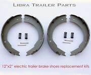 12 Electric Trailer Brake Shoes Replacement Kits 2 Pairs - 21029/21042