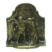 Antique Falstaff Mrs Ford Scene Bronze Shakespeare The Merry Wives Of Windsor