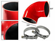 Red Silicone Elbow Coupler Hose 4 Ply 3.5 89 Mm Supercharger Intake Intercooler
