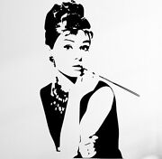 Audrey Hepburn Silhouettes Large Vinyl Wall Stickers Decals Many Colours. New Uk